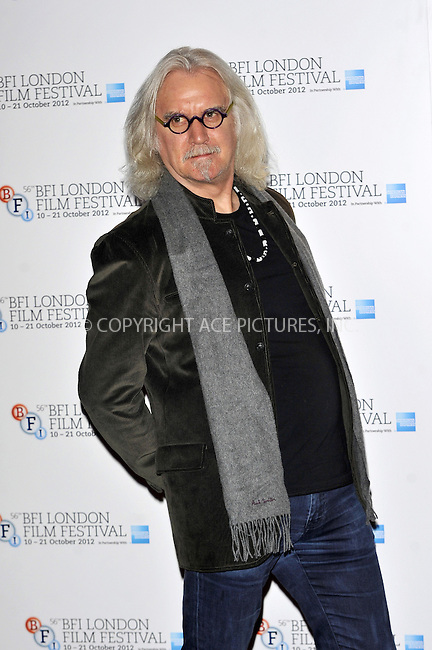 WWW.ACEPIXS.COM....US Sales Only....October 15 2012, London....Billy Connolly at the photocall for 'Quartet' during the 56th BFI London Film Festival on October 15 2012 in London....By Line: Famous/ACE Pictures......ACE Pictures, Inc...tel: 646 769 0430..Email: info@acepixs.com..www.acepixs.com