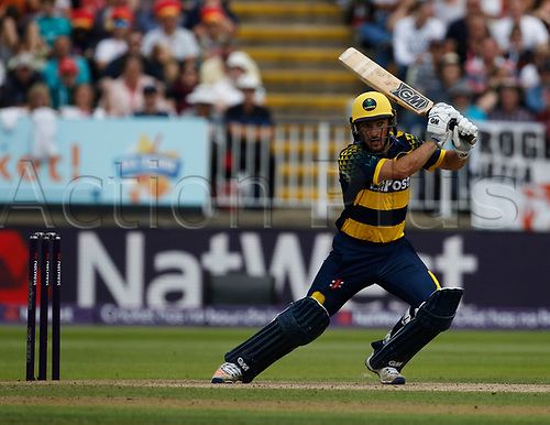 2nd September 2017, Edgbaston, Birmingham, England; Natwest T20 Blast Finals Day, Birmingham Bears versus Glamorgan; Andrew Salter of Glamorgan at the crease