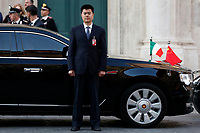 Chinese security<br /> Rome March 22nd 2019. The President of the Chinese Democratic Republic visits the President of the Lower Chamber.<br /> photo di Samantha Zucchi/Insidefoto