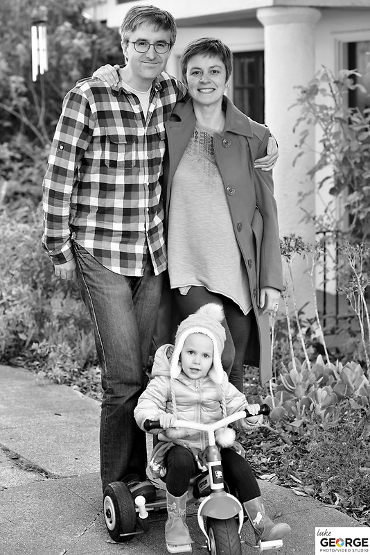 A beautiful family and their holiday maternity shoot in Oakland.