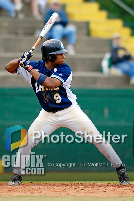 18 May 2006: Curt Smith,  a University of Maine Sophomore from Willemstad, Curacao, at bat during a game against the University of Vermont Catamounts, at Historic Centennial Field, in Burlington, Vermont...Mandatory Photo Credit: Ed Wolfstein Photo..