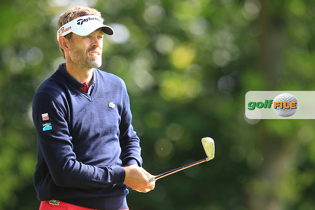 Raphael JACQUELIN (FRA) during round 1 of the 2015 BMW PGA Championship over the West Course at Wentworth, Virgina Water, London. 21/05/2015<br /> Picture Fran Caffrey, www.golffile.ie: