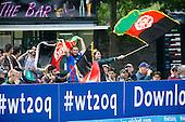ICC World T20 Qualifier - GROUP B MATCH - NETHERLANDS V AFGHANISTAN at Grange CC, Edinburgh - Afghanistan fans celebrate some runs — credit @ICC/Donald MacLeod - 09.07.15 - 07702 319 738 -clanmacleod@btinternet.com - www.donald-macleod.com