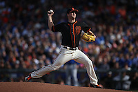 SAN FRANCISCO, CA - MAY 21:  Matt Cain #18 of the San Francisco Giants pitches against the Chicago Cubs during the game at AT&T Park on Saturday, May 21, 2016 in San Francisco, California. Photo by Brad Mangin