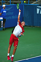 Washington, DC - July 31, 2017: Casper Ruud of Norway plays during a match with Tommy Paul of the USA at the Citi Open July 31, 2017.  (Photo by Don Baxter/Media Images International)