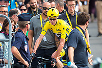 Picture by Alex Whitehead/SWpix.com - 11/07/2017 - Cycling - Le Tour de France - Stage 11, Eymet to Pau - Chris Froome of Team Sky after the finish of the stage.