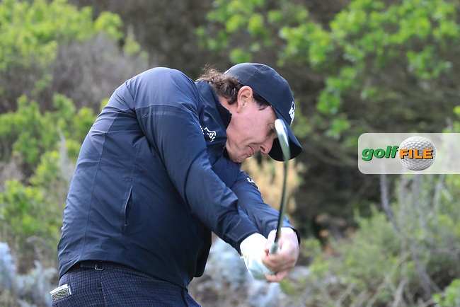 Phil Mickelson (USA) in action at Spyglass Hill Golf Course during the second round of the AT&amp;T Pro-Am, Pebble Beach Golf Links, Monterey, USA. 08/02/2019<br /> Picture: Golffile | Phil Inglis<br /> <br /> <br /> All photo usage must carry mandatory copyright credit (&copy; Golffile | Phil Inglis)
