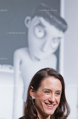 """December 3, 2012, Tokyo, Japan - Producer Allison Abbate attends a press conference for the film, """"Frankenweenie."""" The film will be released in Japan movie theaters on December 15. (Photo by Christopher Jue/Nippon News)11"""
