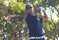 Pablo Larrazabal (ESP) in action on the 18th during Round 1 of the Hero Indian Open at the DLF Golf and Country Club on Thursday 8th March 2018.<br /> Picture:  Thos Caffrey / www.golffile.ie<br /> <br /> All photo usage must carry mandatory copyright credit (&copy; Golffile | Thos Caffrey)