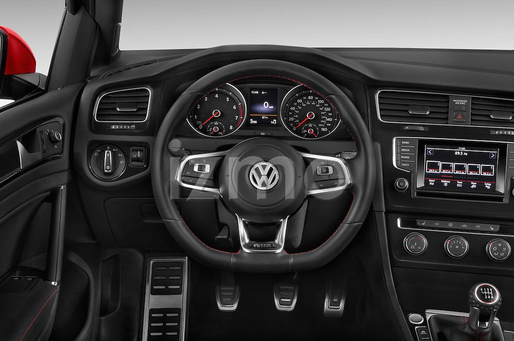 Car pictures of steering wheel view of a 2015 Volkswagen GTI DSG 2 Door Hatchback Steering Wheel