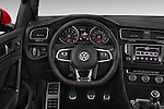 Car pictures of steering wheel view of a 2015 Volkswagen GTI DSG 2 Door Hatchback Steering Wheel