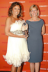 Vanessa Williams with Icon of Style Award, and Dean - Ann Clarke, pose at the Syracuse University 2011 Fashion Show, at One Chase Plaza, May 19 2011.