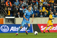 HARRISON, NJ - MARCH 11: Keaton Parks #55 of NYCFC during a game between Tigres UANL and NYCFC at Red Bull Arena on March 11, 2020 in Harrison, New Jersey.