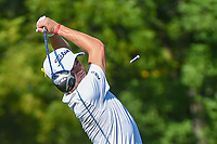 Justin Thomas (USA) watches his tee shot on 12 during 1st round of the 100th PGA Championship at Bellerive Country Cllub, St. Louis, Missouri. 8/9/2018.<br /> Picture: Golffile | Ken Murray<br /> <br /> All photo usage must carry mandatory copyright credit (© Golffile | Ken Murray)