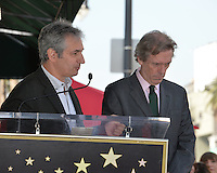 LOS ANGELES, CA. October 25, 2016: David Shore &amp; Hugh Laurie at the Hollywood Walk of Fame star ceremony honoring British actor Hugh Laurie.<br /> Picture: Paul Smith/Featureflash/SilverHub 0208 004 5359/ 07711 972644 Editors@silverhubmedia.com