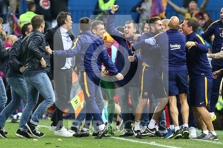 FC Barcelona's coaching staff and Sevilla CF's  during Spanish Kings Cup Final match. May 22,2016. (ALTERPHOTOS/Rodrigo Jimenez)