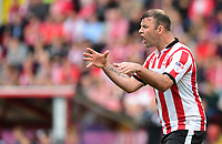 Lincoln City's Matt Rhead<br /> <br /> Photographer Chris Vaughan/CameraSport<br /> <br /> The EFL Sky Bet League Two Play Off First Leg - Lincoln City v Exeter City - Saturday 12th May 2018 - Sincil Bank - Lincoln<br /> <br /> World Copyright &copy; 2018 CameraSport. All rights reserved. 43 Linden Ave. Countesthorpe. Leicester. England. LE8 5PG - Tel: +44 (0) 116 277 4147 - admin@camerasport.com - www.camerasport.com