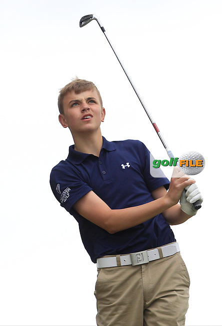 Sean Dowling (Beaverstown) on the 7th tee during Round 2 of the Irish Boys Amateur Open Championship at Tuam Golf Club on Wednesday 24th June 2015.<br /> Picture:  Thos Caffrey / www.golffile.ie