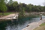 Barton Springs Pool is open year round in Austin, Texas...Ben Sklar for VICE Magazine
