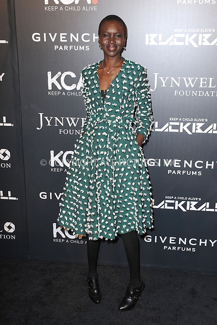 WWW.ACEPIXS.COM<br /> October 30, 2014 New York City<br /> <br /> Alek Wek attending Keep A Child Alive's 11th Annual Black Ball at Hammerstein Ballroom on October 30, 2014 in New York City. <br /> <br /> By Line: Kristin Callahan/ACE Pictures<br /> ACE Pictures, Inc.<br /> tel: 646 769 0430<br /> Email: info@acepixs.com<br /> www.acepixs.com