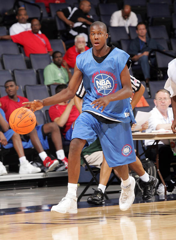 G/F Tony Mitchell (Swainsboro, GA / Swainsboro) moves the ball during the NBA Top 100 Camp held Friday June 22, 2007 at the John Paul Jones arena in Charlottesville, Va. (Photo/Andrew Shurtleff)