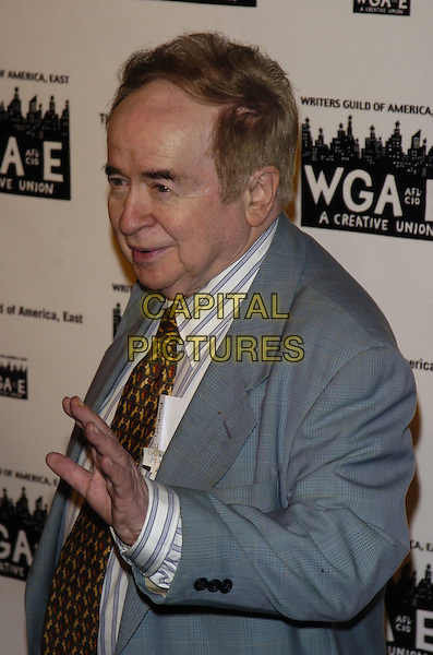 JOE FRANKLIN.59th Annual Writers Guild Awards at the Hudson Theater, New York, New York ,USA..February 11th, 2007.half length grey gray suit jacket hand.CAP/ADM/BL.©Bill Lyons/AdMedia/Capital Pictures *** Local Caption ***
