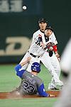 Ryosuke Kikuchi (JPN), <br /> MARCH 15, 2017 - WBC : 2017 World Baseball Classic Second Round Pool E Game between Japan 8-3 Israel at Tokyo Dome in Tokyo, Japan. <br /> (Photo by Sho Tamura/AFLO SPORT)