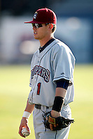 July 27, 2009:  Justin Toole of the Mahoning Valley Scrappers during a game at Dwyer Stadium in Batavia, NY.  Mahoning Valley is the NY-Penn League Short-Season Class-A affiliate of the Cleveland Indians.  Photo By Mike Janes/Four Seam Images