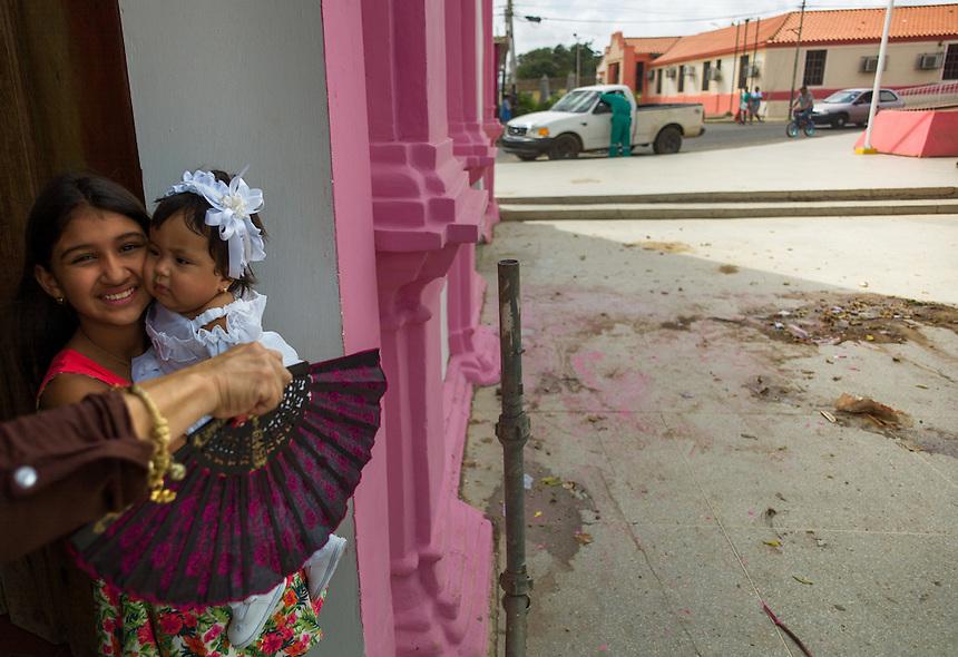 Pueblo Nuevo on Venezuela's Paraguaná Peninsula, Dec. , 2015. The remote desert peninsula in the Caribbean Sea lays bare the effects of Venezuela's politicized economy after 17 years under Hugo Chavez and successor Nicolas Maduro.