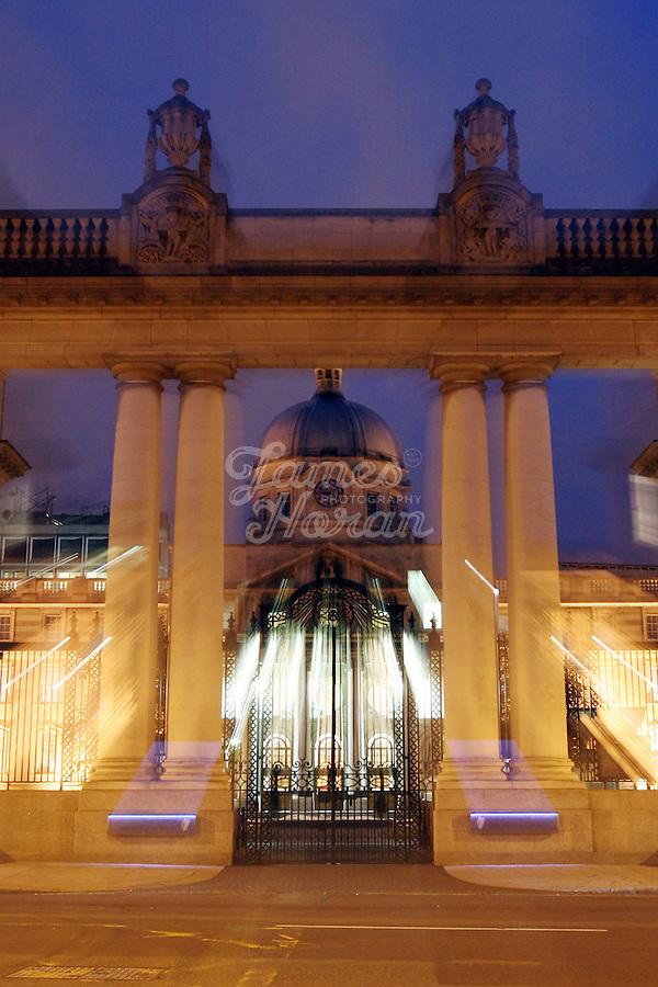 Government Buildings at night, Merrion Street, Dublin, Ireland