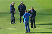 Umpires Ian Gould (R) and Richard Illingworth inspect the pitch during Yorkshire CCC vs Essex CCC, Specsavers County Championship Division 1 Cricket at Emerald Headingley Cricket Ground on 16th April 2018