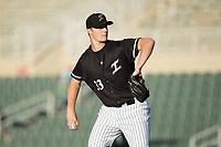 Kannapolis Intimidators starting pitcher Chris Comito (33) in action against the Asheville Tourists at Kannapolis Intimidators Stadium on May 6, 2017 in Kannapolis, North Carolina.  The Intimidators walked-off the Tourists 7-6.  (Brian Westerholt/Four Seam Images)