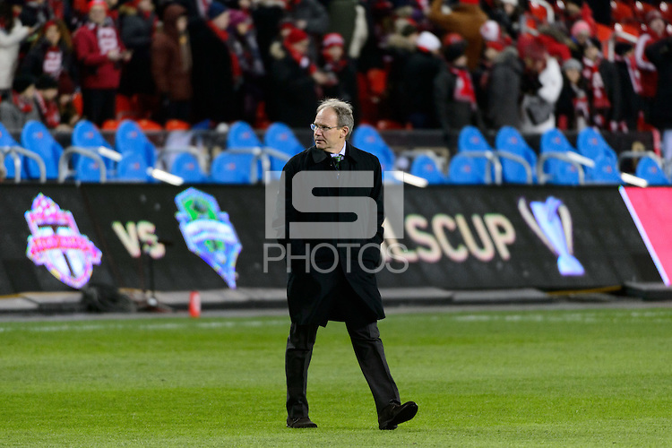Toronto, ON, Canada - Saturday Dec. 10, 2016: Brian Schmetzer prior to the MLS Cup finals at BMO Field.