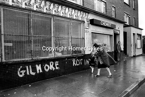 Derry Northern Ireland Londonderry 1983.  Vote Martin McGuinnes Sinn  Fein posters.