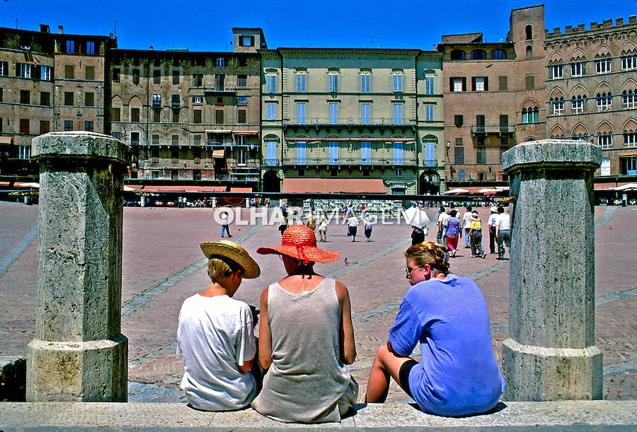 Cidade medieval Siena. Itália. 1993. Foto de Dudu Cavalcanti. Data: 1993