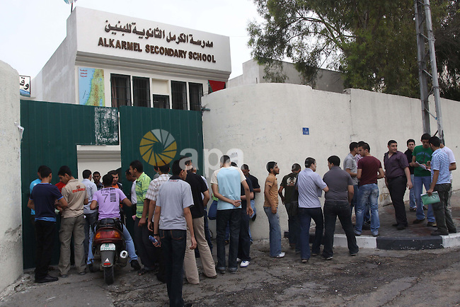 Students on the first day of the General Secondary Exams in Palestine School in Gaza City June 12, 2010. Photo by Mohammed Asad
