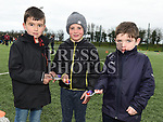 Ewan O'Hannigan, Eoin Gordon and Harry Sheridan at the East Meath United Easter Egg Hunt. Photo:Colin Bell/pressphotos.ie