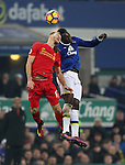 Ragnar Klavan of Liverpool and Romelu Lukaku of Everton during  the English Premier League match at Goodison Park, Liverpool. Picture date: December 19th, 2016. Photo credit should read: Lynne Cameron/Sportimage