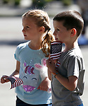 Mallory and Marcus McCarthy, 6 and 4, participate in the 5th annual Veterans Suicide Awareness March, hosted by the Western Nevada College Veterans Resource Center, in Carson City, Nev., on Saturday, May 4, 2019. <br /> Photo by Cathleen Allison/Nevada Momentum