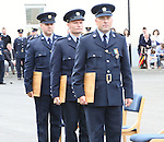 23/7/2015.    Graduating from the Garda College in Templemore this Thursday were three Bronze Scott medal Winners from left Garda Joseph Glackin and Garda Gavin Cahill both Finglas and Garda Michael Bolton stationed in Malahide.<br /> Photograph Liam Burke/Press 22