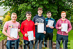St. Michael's College, Listowel leaving cert students who received their results on Wednesday morning. L0 R : Niall O'Sullivan, David Behan, Padraig Logue, Cathal Kennelly & Michael Grimes.