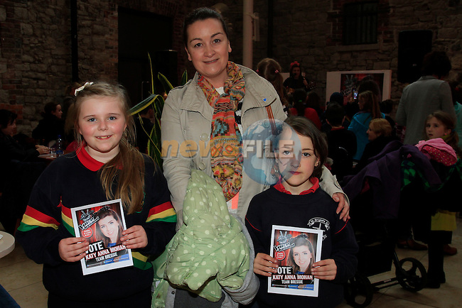 "Hanna Cummins, Jenny and Kathy Fallon watching Katy Anna Mohan from RTE's  ""The Voice"" in Scotch Hall Drogheda on the 11th April 2013.Copyright: Thos Caffrey www.newsfile.ie"