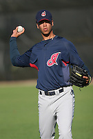 Cleveland Indians minor leaguer Joanniel Montero during Spring Training at the Chain of Lakes Complex on March 17, 2007 in Winter Haven, Florida.  (Mike Janes/Four Seam Images)