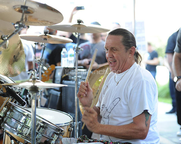 COCONUT CREEK, FL - OCTOBER 13 : Nicko McBrain of Iron Maiden performs at his Restaurant Rock N Roll Ribs on October 13, 2012 in Coconut Creek , Florida.© mpi04/MediaPunch Inc.