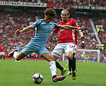 Leroy Sane of Manchester City lines up a shot during the Premier League match at Old Trafford Stadium, Manchester. Picture date: September 10th, 2016. Pic Simon Bellis/Sportimage