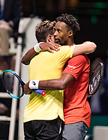 Rotterdam, The Netherlands, 17 Februari 2019, ABNAMRO World Tennis Tournament, Ahoy, Final, Gael Monfils (FRA) - Stan Wawrinka (SUI),<br /> Photo: www.tennisimages.com/Henk Koster