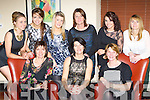 ..Sheila Buckley Gneeveguilla who celebrated her 50th birthday with her friends in Lord Kenmares Restaurant Killarney on Friday night  front row l-r Kathleen Dennehy, Sheila Buckley, Joan O'Mahony. Back row: Joanne O'Mahony, Maria Buckley, Jennifer Buckley, Valarie Doyle, Maria Doyle and Anna Maria Looney..
