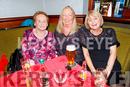 Betty Bower, Mary Jennings and Marie Morrison enjoying Womens Christmas in the Munster Bar on Saturday.