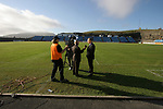 Faroe Islands 0 Scotland 2, 06/06/2007. Svangaskard, Toftir, Euro 2008 Qualifying. Scotland manager Alex McLeish is interviewed by a television journalist after the Faroe Islands match against Scotland in a Euro 2008 group B qualifying match at the Svangaskard stadium in Toftir. The visitors won the match by 2 goals to nil to stay in contention for a place at the European football championships which were to be held in Switzerland and Austria in the Summer of 2008. It was the first time Scotland had won in the Faroes, the previous two matches ended in draws. Photo by Colin McPherson.