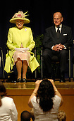 """Queen Elizabeth II, left, Prince Philip, The Duke of Edinburgh, right, are seen during a visit to the NASA Goddard Space Flight Center, Tuesday, May 8, 2007, in Greenbelt, Md. The Royal couple's appearance was one of the last stops on a six-day visit to the United States. Photo Credit """"NASA/Paul E. Alers"""""""